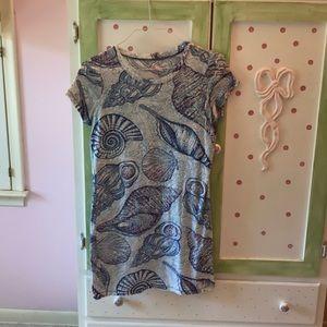 Lilly Pulitzer Stuffed Shells Tee-Shirt Dress🐚💙